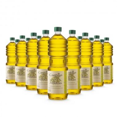 Aceite de oliva empeltre virgen extra - 1 litro (caja de 15 botellas) | Castillo de Ablitas
