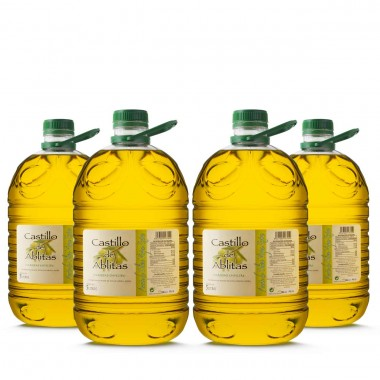 Aceite de oliva empeltre virgen extra - 5 litros (Caja de 4) | Castillo de Ablitas